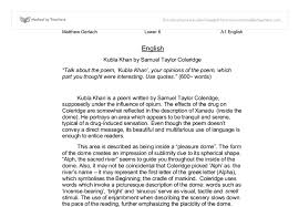 kubla khan by samuel taylor coleridge talk about the poem kubla  document image preview