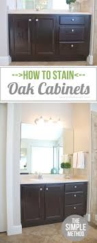 Staining Oak Cabinets Espresso How To Stain Oak Cabinetsthe Simple Method Without Sanding