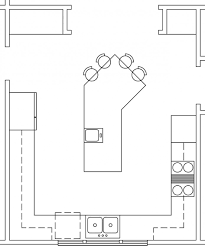 Fascinating U Shaped Kitchen with Island Floor Plan and Breakfast Bar  Design Plans also Prep Sink Kitchen Island and Double Bowl Kitchen Sink  from Kitchen ...