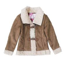 brave soul designer girls jacket nature new childs faux leather look sherpa coat