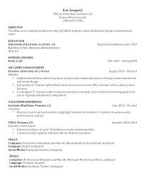 Sample Student Resumes Sample Internship Resume For College Students