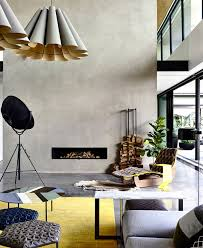 furniture color combination. in this australian home the designers have combined fashionable furniture by patricia urquiola for moroso with attractive accent of yellow color combination
