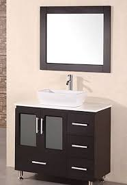bathroom vanities vessel sinks sets. Design Element Stanton Single Vessel Sink Vanity Set With Espresso Finish, 36-Inch - Bathroom Amazon.com Vanities Sinks Sets H