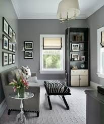 carpet for home office. Grey Carpet Lounge Home Office Transitional With Zebra Stool Nailhead Detail For E