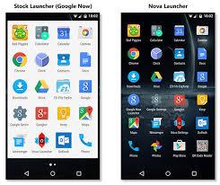 android stock vs nova launcher