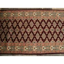 dark red lovely jaldar ivory touch exclusive hand knotted soft runner rug 12 0 x 2 5