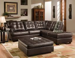 Italian Leather Living Room Furniture Brown Tufted Top Grain Italian Leather Modern Sectional Sofa
