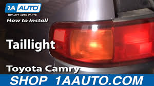 97 Toyota Camry Brake Light How To Replace Tail Lights 95 96 Toyota Camry