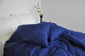 navy linen duvet cover set queen king full duvet cover pillowcases navy blue linen