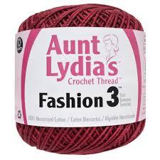 Aunt Lydias Fashion Crochet Thread Size 3 Scarlet