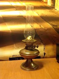 copper and brass oil lamp complete with glass chimney wick crossword oil lamp glass chimney