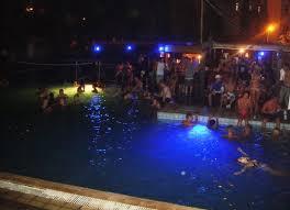Napa Spray Pool Party at night