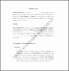 standard investment contract investment contract sample swela lovely memorandum agreement