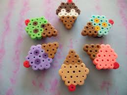 Small Perler Bead Patterns Impressive Perler Beads Mini Ice Cream Cones Great Use Of The Snowflake