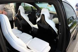 new tesla model x 5 seat configuration back seats can be folded down completely