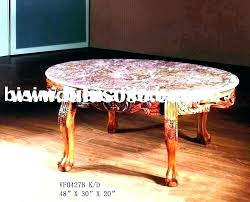 vintage small round side table coffee antique marble top value kitchen scenic c