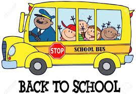 Happy Children Le Bus Scolaire Et Du Texte Clip Art Libres De