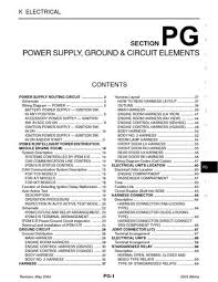 nissan altima power supply ground circuit elements 2003 nissan altima power supply ground circuit elements section pg 72 pages