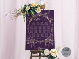 Seating Chart Royal Wedding Vintage Royal Wedding Seating Chart Fairytale Eggplant Purple Plum Table Seating Plan Editable Template Printable Instant Download Ws40