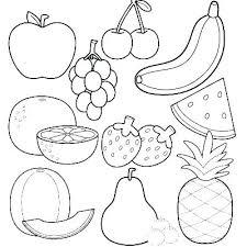 Coloring Pages Of Food Kryptoskoleninfo