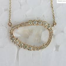 details about blue moonstone pendant gemstone collar princess necklace diamond 14k yellow gold