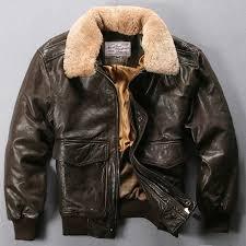 er jacket jacket jacket black brown leather avirex fly air force flight fur collar sheepskin coat