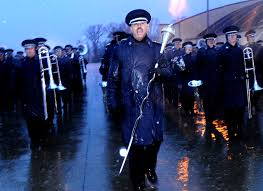 u s department of defense photo essay air force chief master sgt edward teleky drum major leads a 99