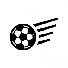 サッカーボールのシルエット03 無料のaipng白黒シルエットイラスト