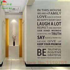 Small Picture Aliexpresscom Buy IN THIS HOUSE English DIY glass vinyl wall