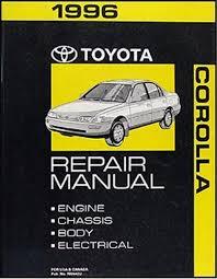 1996 toyota corolla wiring diagram manual original 1996 toyota corolla repair shop manual original