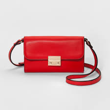 a new day magnetic closure cross bag red shoulder strap