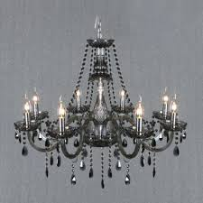 smoked crystal chandelier fringe
