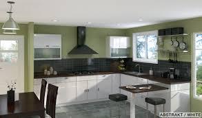 Kitchen : Contemporary Kitchen Design Ideas White Gloosy Kitchen ...