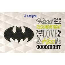 Free Batman Machine Embroidery Designs Batman Logo Single Applique With Read Me Embroidery Hanan