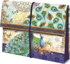 Decorative File Storage Boxes Expanding File Folder Peacock in File Storage Boxes 27