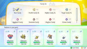 Candy Chart Pokemon Go Pokemon Candy Guide How To Get Candy And Candy Types