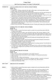 Casual Resume Example Dock Worker Resume Samples Velvet Jobs 22