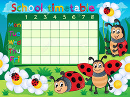 Image Result For Designs For Time Table Charts School