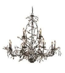 12 light chandelier home depot elk inch deep rust ceiling 8 4 destrie 12 light crystal chandelier