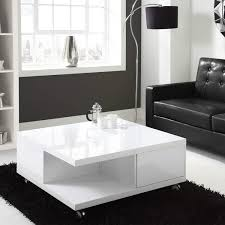 modern white high gloss square coffee table with storage  ebay