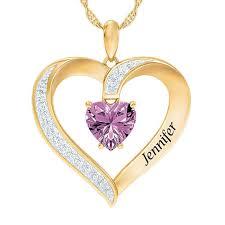 june personalized birthstone heart pendant