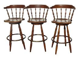 fascinating wooden swivel backless bar stools wood used oak with arms back backs