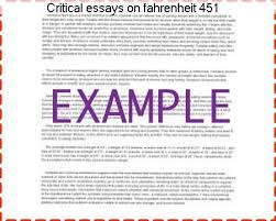 critical essays on fahrenheit term paper help critical essays on fahrenheit 451
