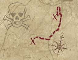how to easily make a pirate map