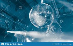 Party Lights That Go With Music Disco Mirror Ball Party Lights Stock Photo Image Of