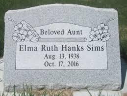 Elma Ruth Hanks Sims (1938-2016) - Find A Grave Memorial