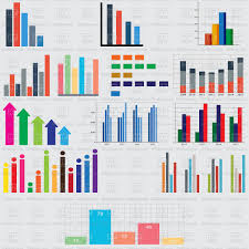 Free Charts And Graphs Charts And Graphs For Reports And Statistics Stock Vector Image