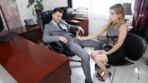 Blackmailing my secretary to fuck