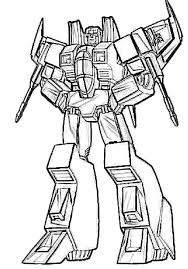 Starscream Transformers Coloring Page Coloring Pageskids