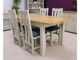oak dining table. Aspen Painted Oak Sage Grey Extending Dining Table \u0026 Chairs